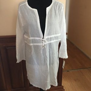 Capelli of New York Swim - Capelli NY Swimsuit Beach Coverup - White  XL NWT